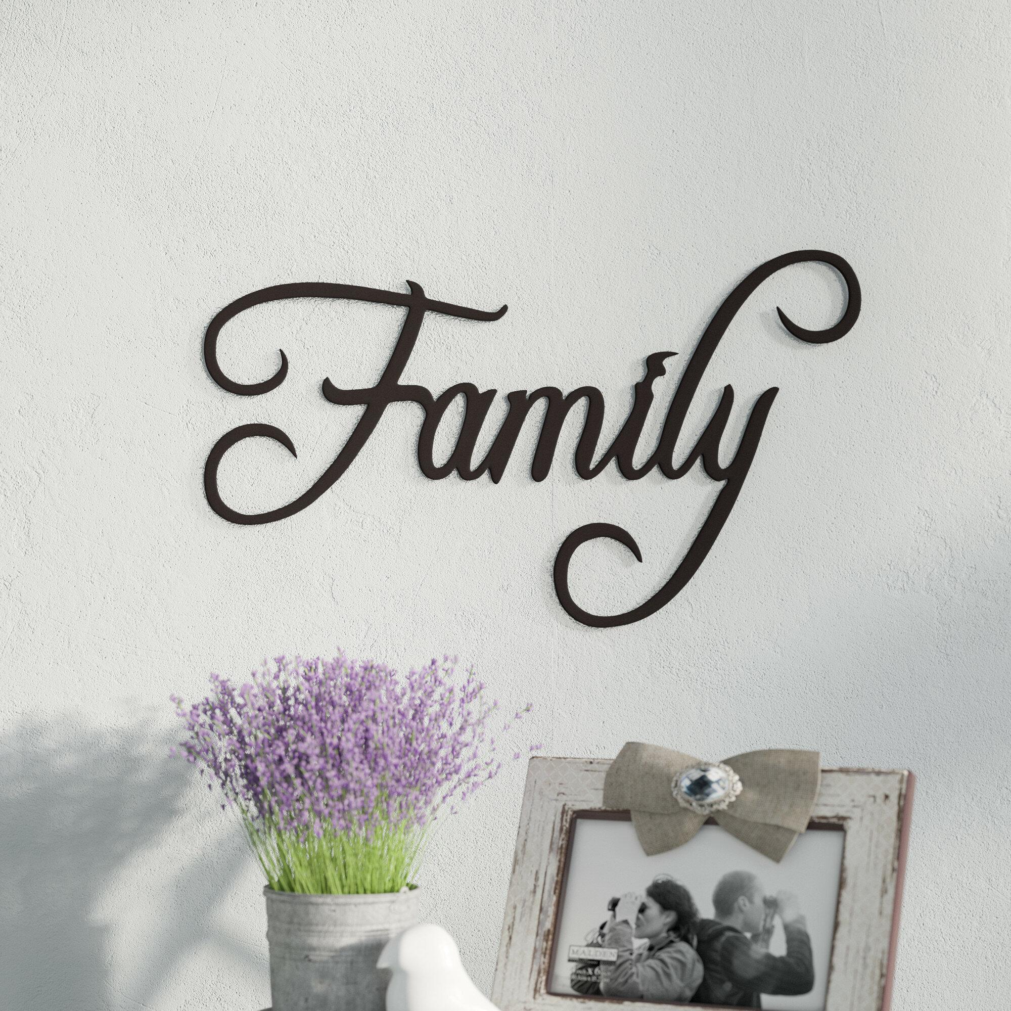 Fleur De Lis Living Family Word Sign Fancy Script Wall