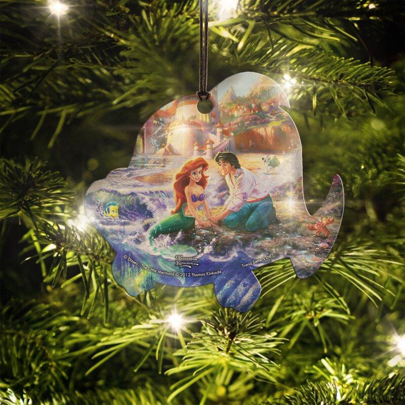 disney the little mermaid flounder hanging ornament - Little Mermaid Christmas Ornaments