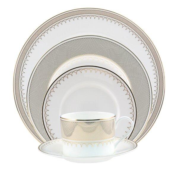 Lattice Bone China 5 Piece Place Setting, Service for 1 by Nikko Ceramics