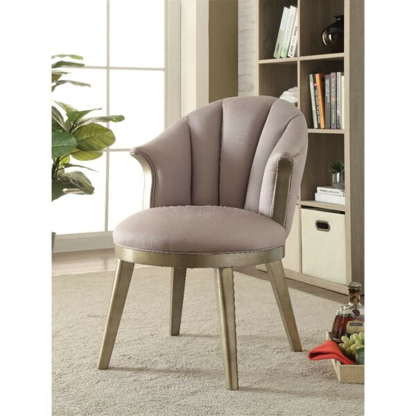 Bejarano Fabric Upholstered Wooden Curved Backrest Barrel Chair by House of Hampton