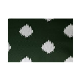 Find a Urbina Decorative Holiday Ikat Print Dark Green Indoor/Outdoor Area Rug By Wrought Studio