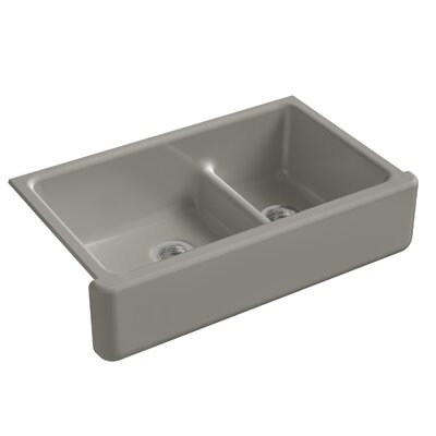 Kitchen Sink Double Bowl Tall Cashmere photo