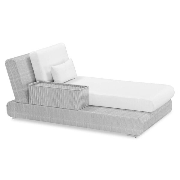 Sumba Lounge Bed Sectional Piece with Cushions by 100 Essentials