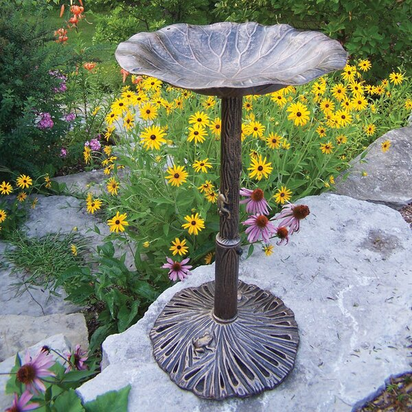 Lily Birdbath by Oakland Living