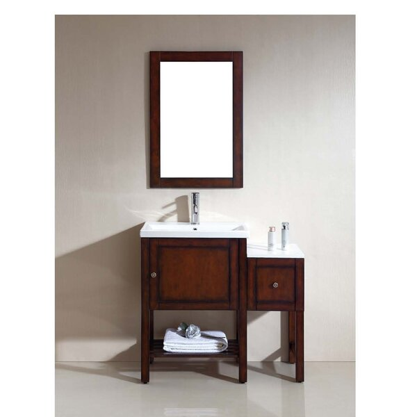 American 37 Single Bathroom Vanity Set with Mirror by Dawn USA