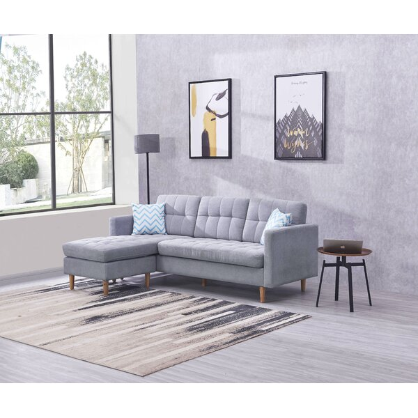 Forest Hill 82.3'' Reversible Modular Sectional With Ottoman By George Oliver
