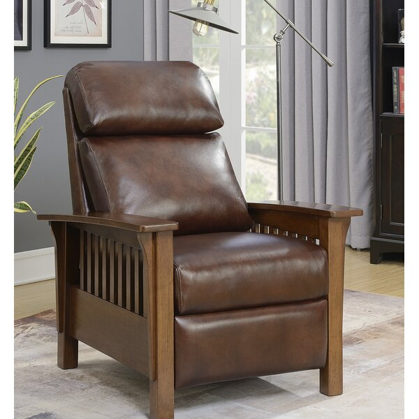 Jazmine Leather Manual Recliner [Red Barrel Studio]