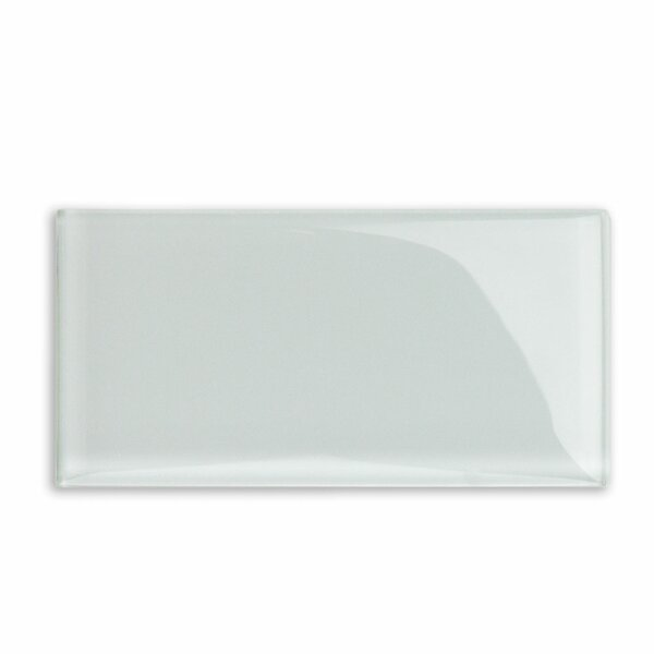 Contempo 3 x 6 Glass Subway Tile in White by Splashback Tile