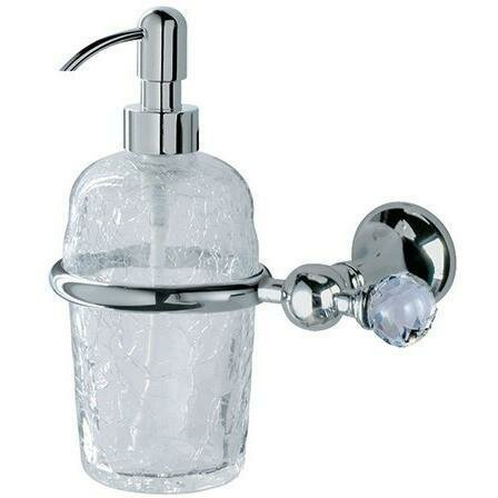 Philomena Swarovski Wall Glass Soap & Lotion Dispenser by Rosdorf Park