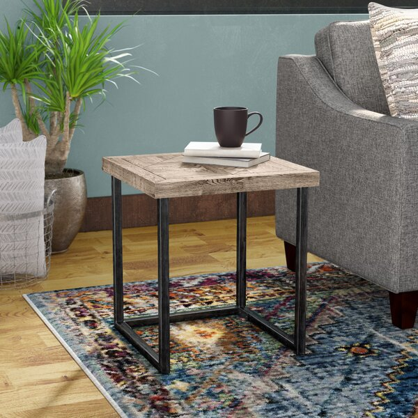Adalheid Parquet End Table by Trent Austin Design