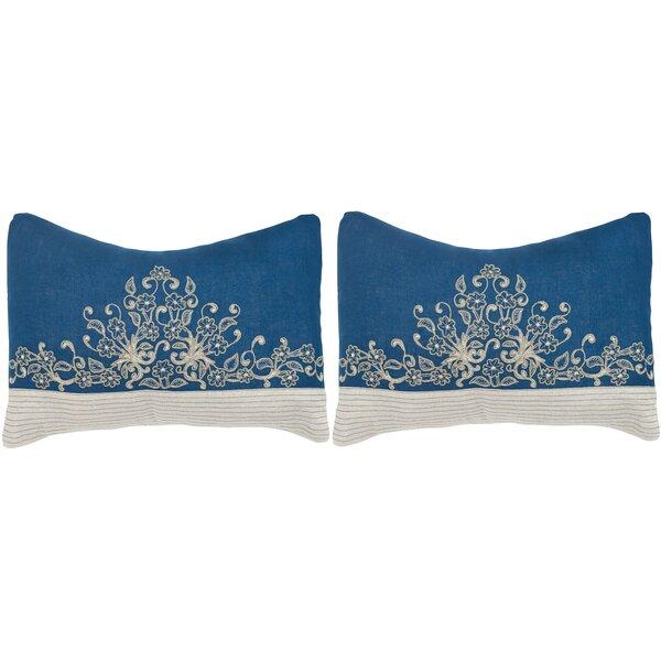 Elena Linen  Lumbar Pillow (Set of 2) by Safavieh