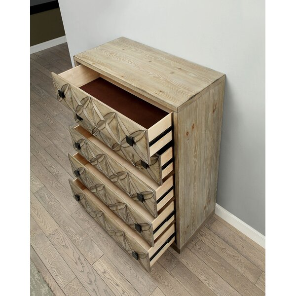 Casson Transitional Wood 5 Drawer Chest by Union Rustic