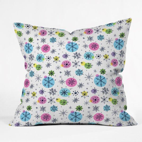 Sam Osborne Snowflake Doodles Indoor Throw Pillow by Deny Designs