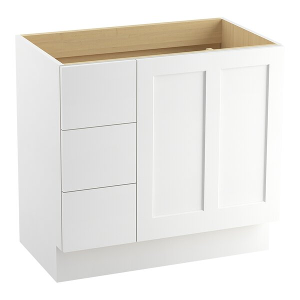Poplin™ 36 Vanity with Toe Kick, 1 Door and 3 Drawers on Left by Kohler