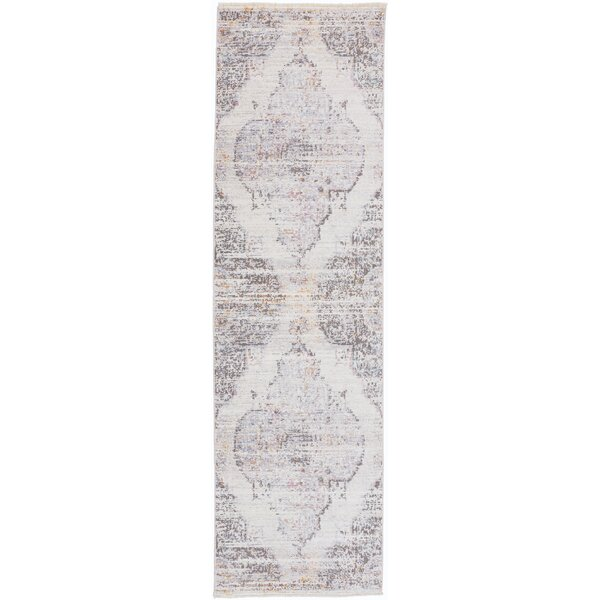 Emmalynn Creme/Gray/Red Area Rug by Bungalow Rose