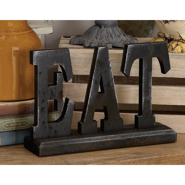 Jacinto Wood Eat Letter Block by Charlton Home
