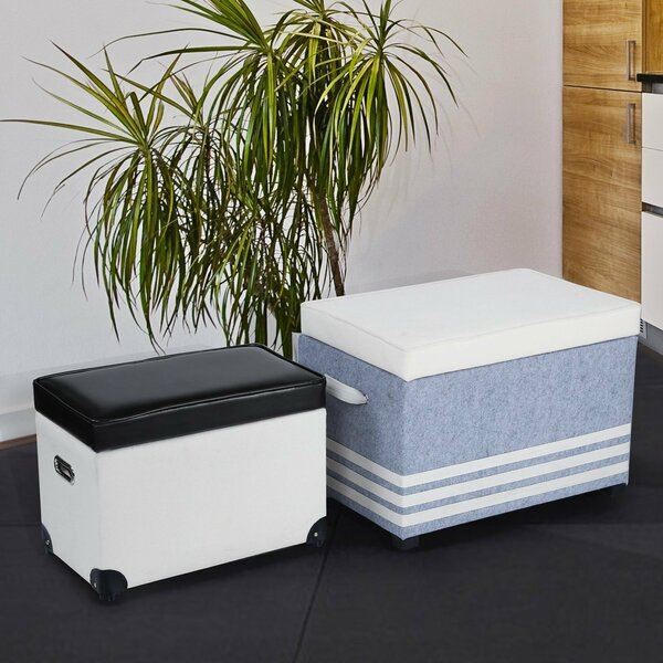 2 Piece Storage Ottoman Set by Adeco Trading