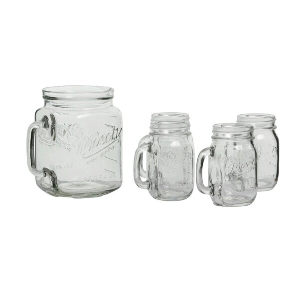 Glass 5 Piece Beverage Serving Set by Mason Craft & More