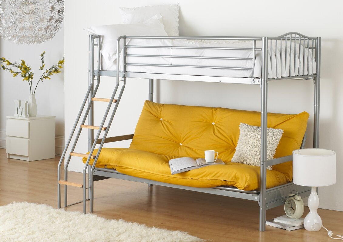alaska futon bunk bed with futon