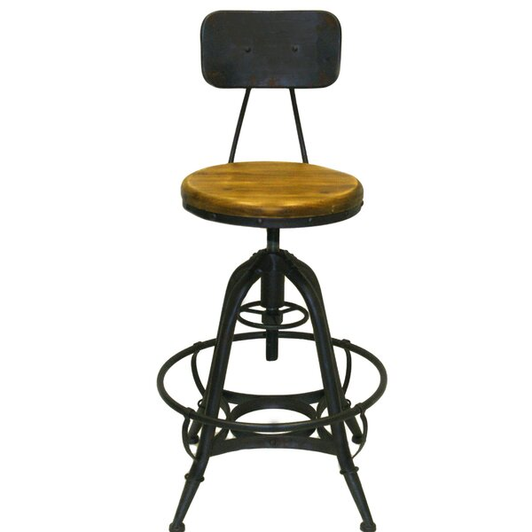 Cindy Adjustable Height Swivel Bar Stool (Set of 2) by 17 Stories 17 Stories