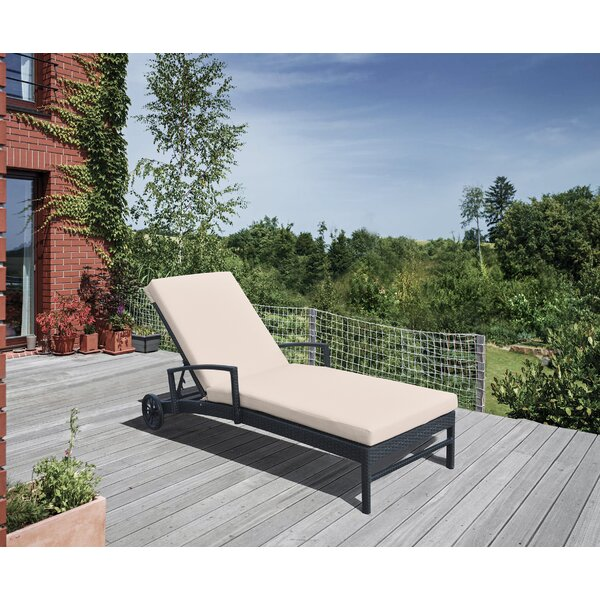 Hathaway Reclining Chaise Lounge with Cushion by Gracie Oaks