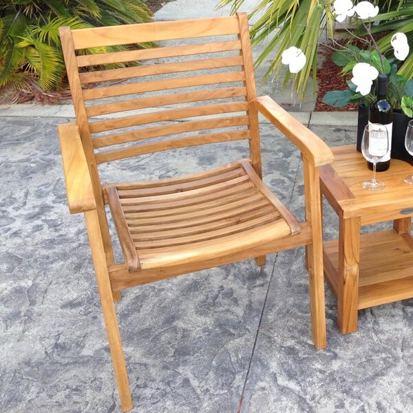 Francisco Stacking Patio Dining Chair by Darby Home Co