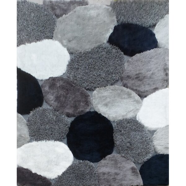 Dascomb Geometric Design Hand-Woven Gray/Black Area Rug by Foundry Select