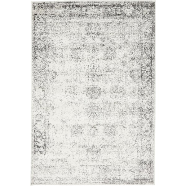 Brandt Gray Area Rug By Mistana.