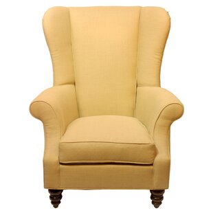 Bartlett Linen Wing back Chair by DarHome Co