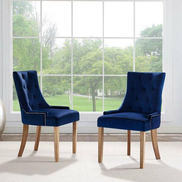 Mandeville Upholstered Dining Chair (Set of 2) by House of Hampton