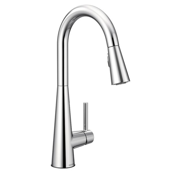 Sleek Pull Down Single Handle Kitchen Faucet with Duralock™, Power Clean™ and Reflex™ by Moen