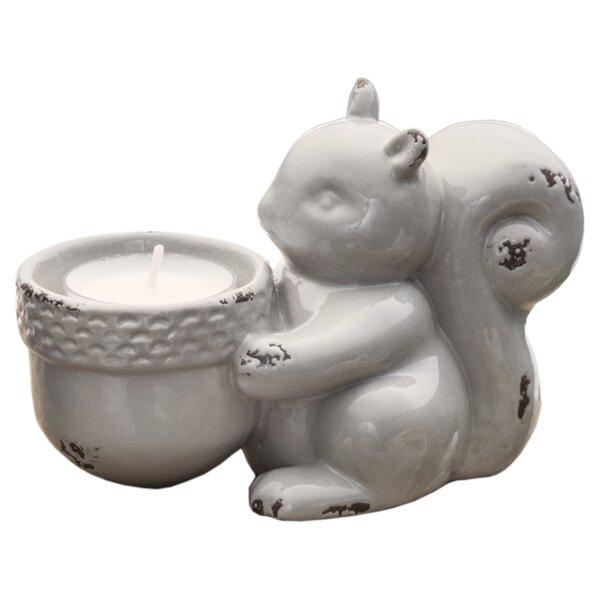 Squirrel Ceramic Tealight Holder by Prinz
