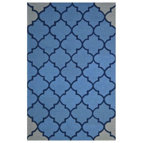 Wool Hand-Tufted Blue Area Rug by Eastern Weavers