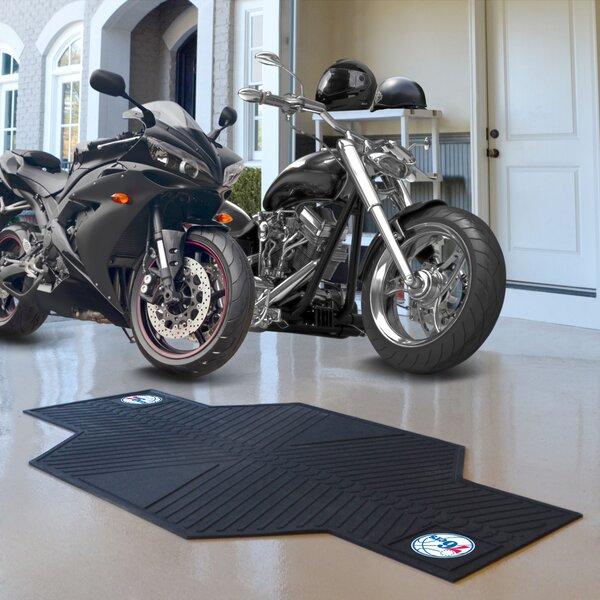 NBA Philadelphia 76ers Motorcycle Garage Flooring Roll in Black by FANMATS