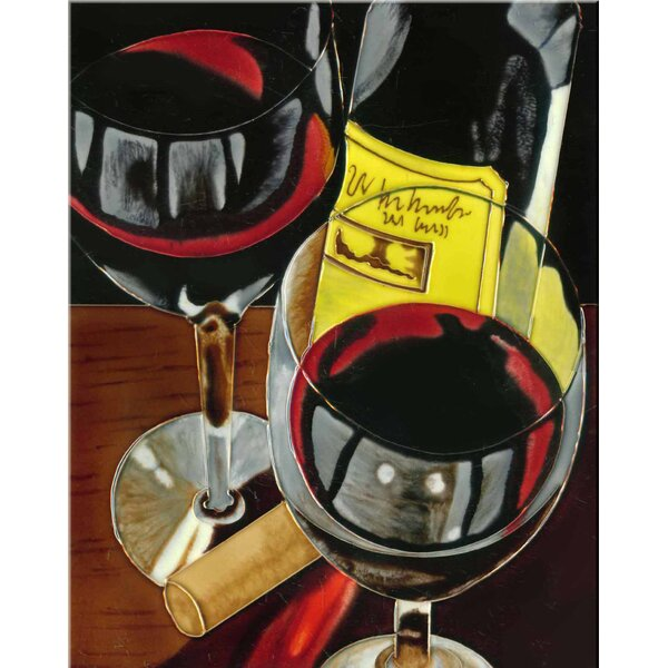 Wines Painting Print Tile Wall Decor by Continental Art Center