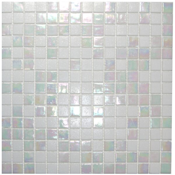 Oyster 0.8 x 0.8 Glass Mosaic Tile in White by CNK Tile