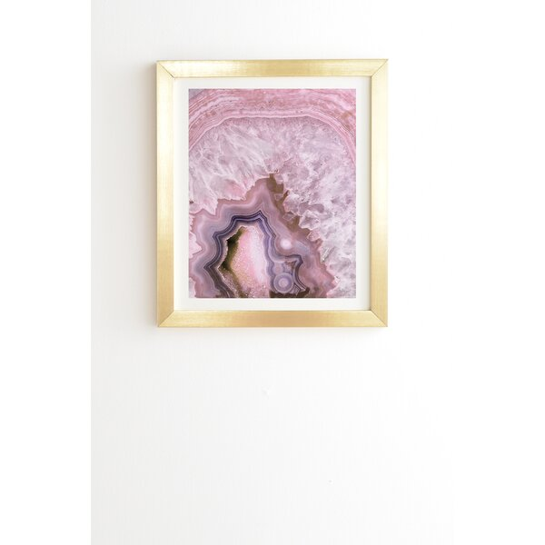 Pale Pink Agate Framed Graphic Art by East Urban Home
