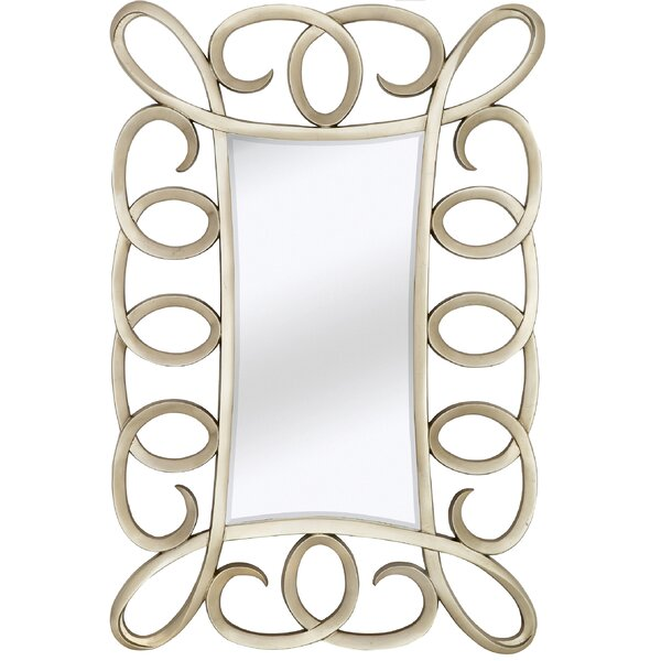 Large Contemporary Mirror with Decorative Antique Silver Frame by Majestic Mirror