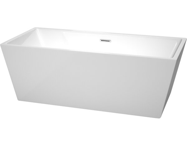 Sara 67 x 31.5 Soaking Bathtub by Wyndham Collection