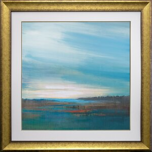 'Sky High' by Stacy D'Auiar Framed Acrylic Painting Print by Star Creations