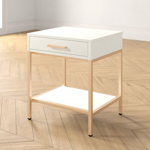 Katie End Table With Storage By Foundstone
