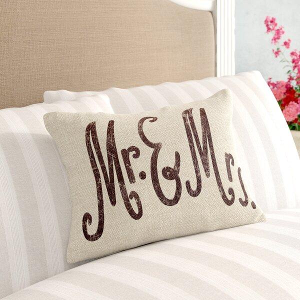 Eisenberg Mr. & Mrs. Linen Lumbar Pillow by The Twillery Co.