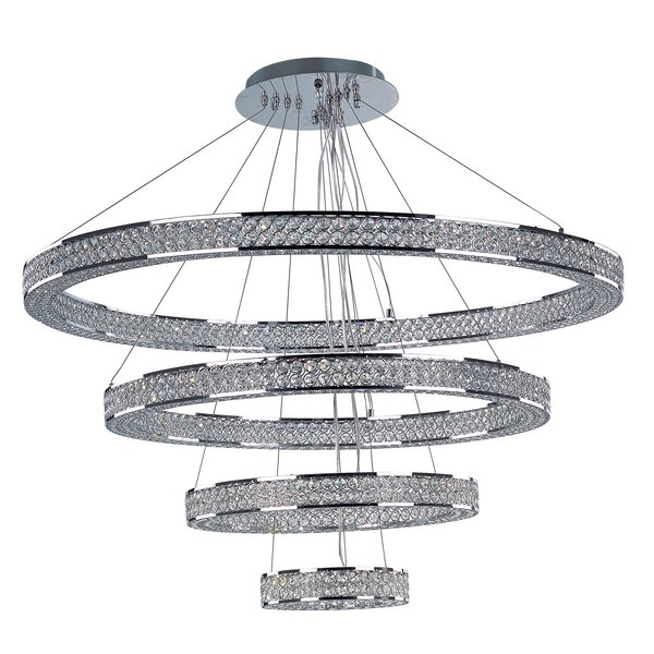 Ambrose 1 - Light Unique / Statement Tiered LED Chandelier by House of Hampton House of Hampton