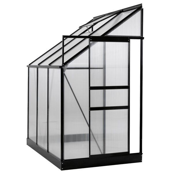 4 Ft. W x 6 Ft. D Lean-To Greenhouse by OGrow