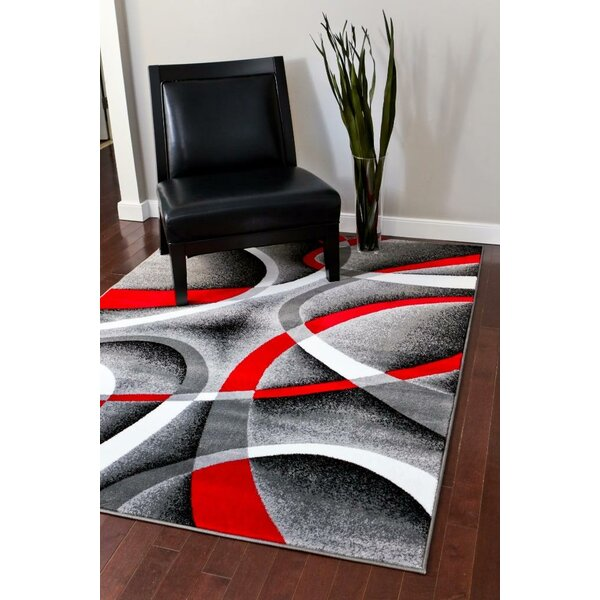 Cherine Modern Gray Area Rug by Orren Ellis