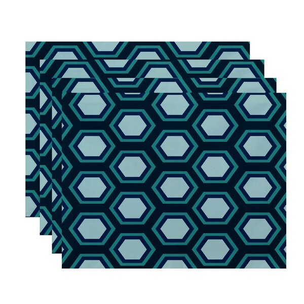 Agatha Geometric Placemat (Set of 4) by Willa Arlo Interiors