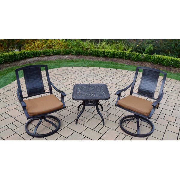 Vanguard 3 Piece Dining Set With Cushions By Oakland Living
