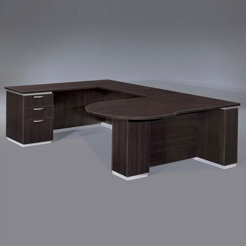 Pimlico Left Peninsula U-Shape Executive Desk by Flexsteel Contract