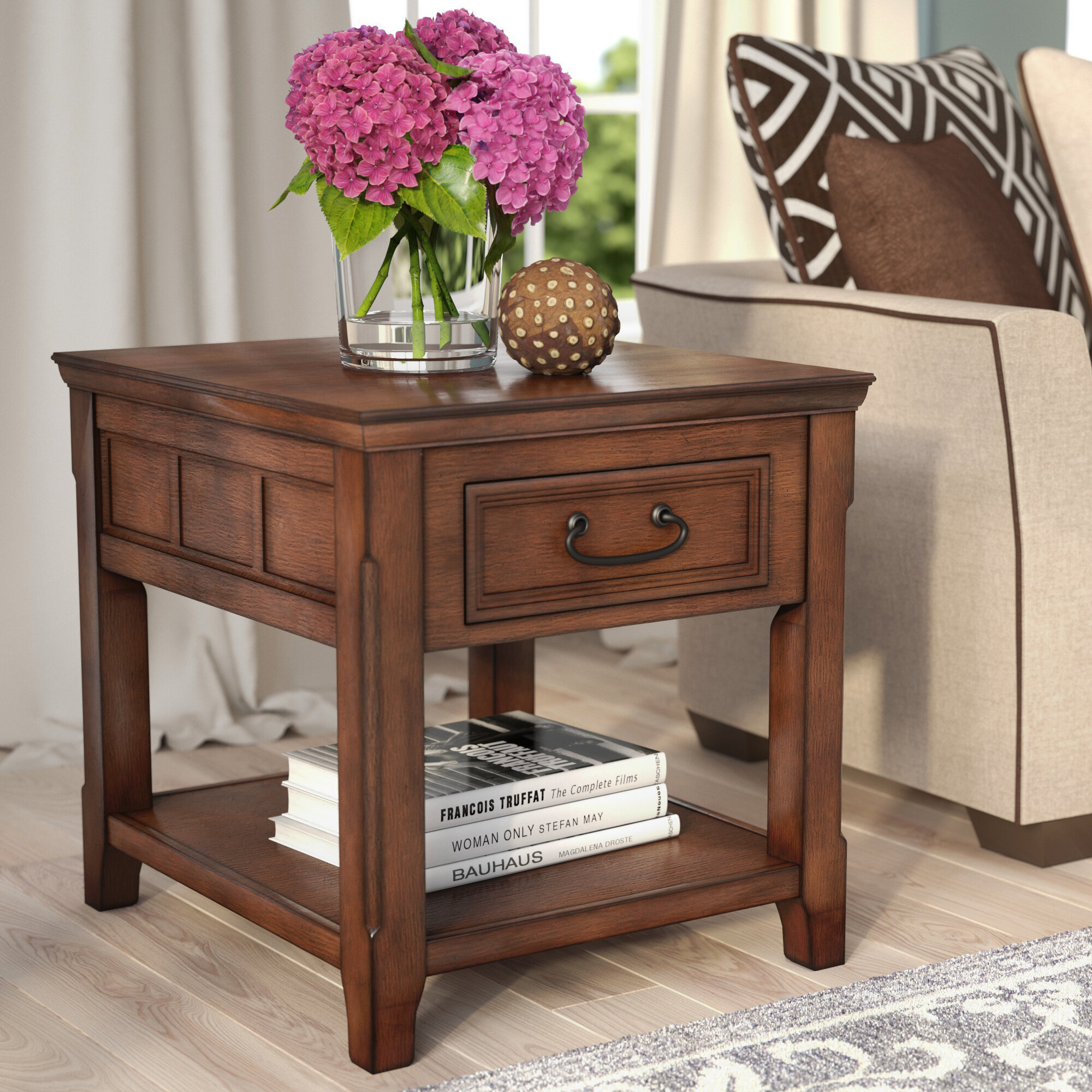 Table A Langer D Angle darby home co mathis end table with storage & reviews | wayfair