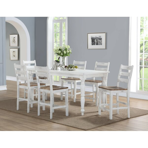 Spurgeon 7 Piece Counter Height Dining Set by August Grove